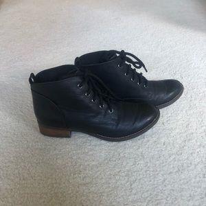 Black combat booties